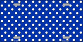 Blue White Polka Dot Wholesale Metal Novelty License Plate