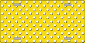 Yellow White Polka Dot Wholesale Metal Novelty License Plate