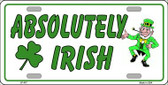 Absolutely Irish Wholesale Metal Novelty License Plate