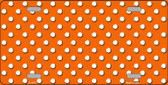 Orange White Polka Dot Wholesale Metal Novelty License Plate