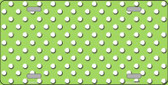Lime Green White Polka Dot Wholesale Metal Novelty License Plate