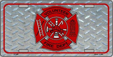 Volunteer Fire Dept Wholesale Metal Novelty License Plate LP-445