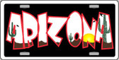 Arizona Black Wholesale Metal Novelty License Plate LP-4456