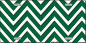 Green White Chevron Wholesale Metal Novelty License Plate LP-4469