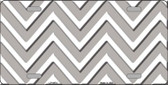 Grey White Chevron Wholesale Metal Novelty License Plate LP-4474