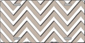 Tan White Chevron Wholesale Metal Novelty License Plate LP-4479