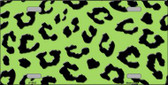 Lime Green Black Cheetah Print Wholesale Metal Novelty License Plate LP-4525