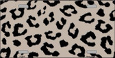 Tan Black Cheetah Print Wholesale Metal Novelty License Plate LP-4526