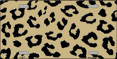 Gold Black Cheetah Print Wholesale Metal Novelty License Plate LP-4527
