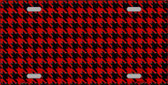 Red Black Houndstooth Wholesale Metal Novelty License Plate LP-4565