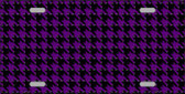 Purple Black Houndstooth Wholesale Metal Novelty License Plate LP-4567