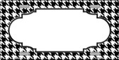 White Black Houndstooth With Scallop Center Wholesale Metal Novelty License Plate LP-4588