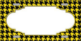 Yellow Black Houndstooth With Scallop Center Wholesale Metal Novelty License Plate LP-4592