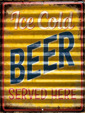 Ice Cold Beer Served Here Wholesale Novelty Parking Sign P-2313