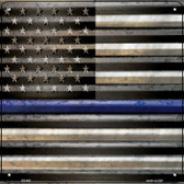 American Flag Thin Blue Line Wholesale Novelty Square Sign SQ-406