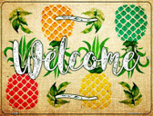 Welcome Pineapples Wholesale Novelty Parking Sign P-2366