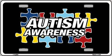 Autism Awarness Metal License Plate