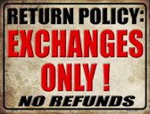 Return Policy Wholesale Parking Sign P-1798
