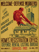 Welcome Defense Workers Vintage Poster Wholesale Parking Sign P-1945