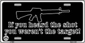 Heard The Shot Wholesale Metal Novelty License Plate LP-4683