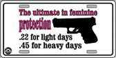 Feminine Protection Wholesale Metal Novelty License Plate LP-4695