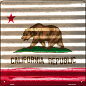 California Flag Corrugated Effect Wholesale Novelty Square Sign SQ-429