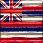 Hawaii Flag Corrugated Effect Wholesale Novelty Square Sign SQ-435