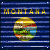 Montana Flag Corrugated Effect Wholesale Novelty Square Sign SQ-450