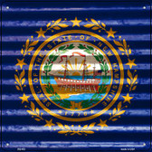 New Hampshire Flag Corrugated Effect Wholesale Novelty Square Sign SQ-453