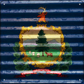 Vermont Flag Corrugated Effect Wholesale Novelty Square Sign SQ-469