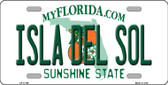 Isla Del Sol Florida Wholesale Novelty License Plate LP-11769