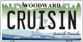 Cruisin Woodward Michigan Wholesale Novelty License Plate LP-11867