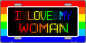 I Love My Woman Wholesale Metal Novelty License Plate LP-4721
