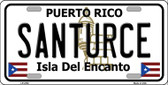 Santurce Puerto Rico Wholesale Metal Novelty License Plate LP-4752
