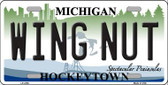Wing Nut Michigan State Wholesale Metal Novelty License Plate LP-4759