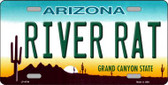 River Rat Arizona Novelty Wholesale Metal License Plate LP-4764