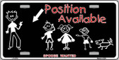 Position Available Wholesale Metal Novelty License Plate LP-4778