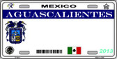Aguascalientes Mexico Novelty Background Wholesale Metal License Plate LP-4811