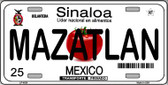 Mazatlan Mexico Novelty Background Wholesale Metal License Plate LP-4824