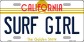 Surf Girl California Novelty Wholesale Metal License Plate LP-4886