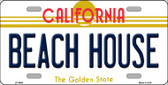 Beach House California Novelty Wholesale Metal License Plate LP-4890