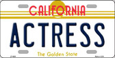 Actress California Novelty Wholesale Metal License Plate LP-4898