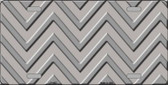 Grey Light Grey Chevron Monochromatic Wholesale Metal Novelty License Plate LP-4957