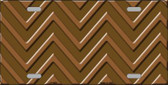 Brown Light Brown Chevron Monochromatic Wholesale Metal Novelty License Plate LP-4959