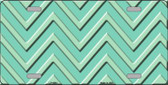 Mint Light Mint Chevron Monochromatic Wholesale Metal Novelty License Plate LP-4964