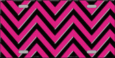 Pink Black Chevron Wholesale Metal Novelty License Plate LP-4996