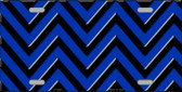 Blue Black Chevron Wholesale Metal Novelty License Plate LP-4998