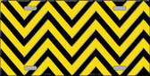 Yellow Black Chevron Wholesale Metal Novelty License Plate LP-5035