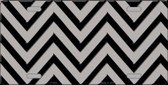 Grey Black Chevron Wholesale Metal Novelty License Plate LP-5038