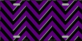 Purple Black Chevron Wholesale Metal Novelty License Plate LP-5039